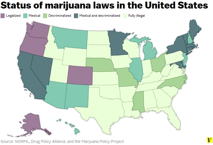 USA Doubles Amount of States Legalizing Recreational Marijuana to 4,  Washington DC follows suit, but Faces Tough Battle in the US Senate